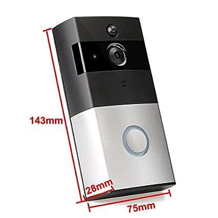 Video Doorbell Smart Doorbell 720P HD WiFi Security Camera, Real-Time Two-Way
