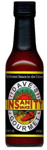 - Dave's Gourmet Total Insanity Sauce Hot Sauce, Pack of 3