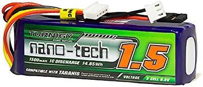 Taranis Compatible Turnigy Nano-tech 1500mAH Life 3S 9.9v Transmitter Pack