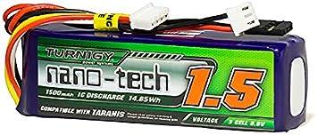 Turnigy nano-tech 1500mAH LiFe 3S 9.9v Transmitter Pack Taranis Compatible