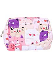 EXCEART 1pc Lovely Cat Napkins Bag Nursing Pad Holder Sanitary Napkin Bag Small Zipper Coin Purse for Women and Girls