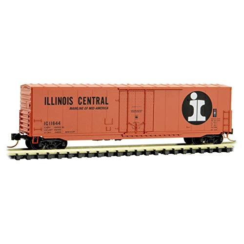 - Micro-Trains MTL N-Scale 50ft Plug Door Box Car Illinois Central/IC #11644