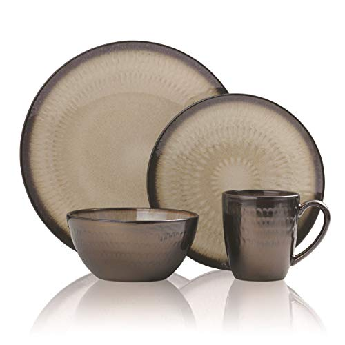 Gourmet Basics by Mikasa 5239014 Anastasia Cream 16-Piece Dinnerware Set, Assorted