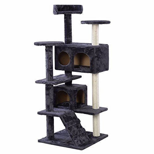 Ships from USA Cat Tree Tower Condo Furniture Scratch Post Kitty Pet House Play - Tower Place Chicago