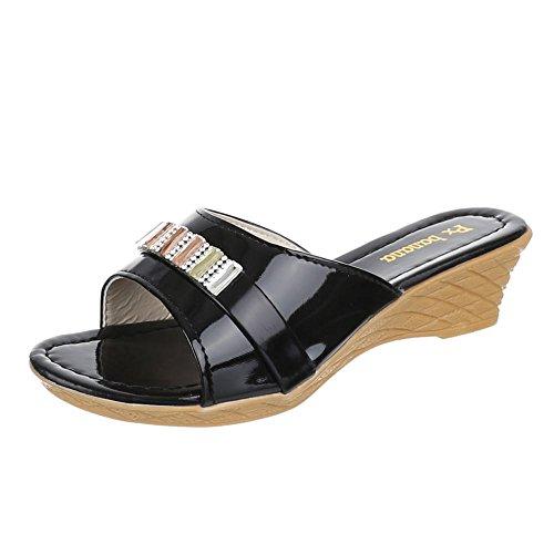 Kinder Schuhe, C-7-3, SANDALEN PANTOLETTEN Schwarz