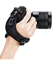 JJC Deluxe Mirrorless Camera Hand Grip Strap for Sony ZV-E10 A1 A7C A7III A7II A7 A7RIV A7RIII A7RII A7R A7SIII A7SII A9II A9 A6600 A6500 A6400 A6300 A6100 A6000 Panasonic G7 G9 G85 S5 S1 S1R & More