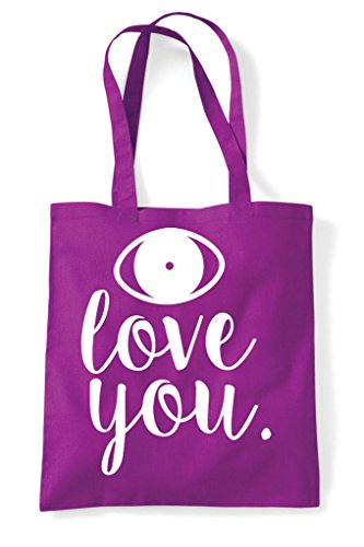 Magenta Bag Love Tote You Statement Eye Shopper 6aYxqORYw