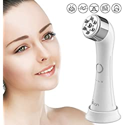 Facial Massagers Massage Massaging Device - Handy Electric High Frequency and Vibration Machine 4 Color Light Treatments Strengthening Elasticity Modifying Wrinkles Beauty Skin Care Product White