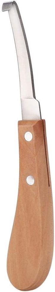 Pbzydu Cuchilla Recta para pezuña de Ganado en Forma de Hoja Recta, fácil de Usar, Robusta guarnición de pezuña, Caballo para Granjero(Straight Right Hand)