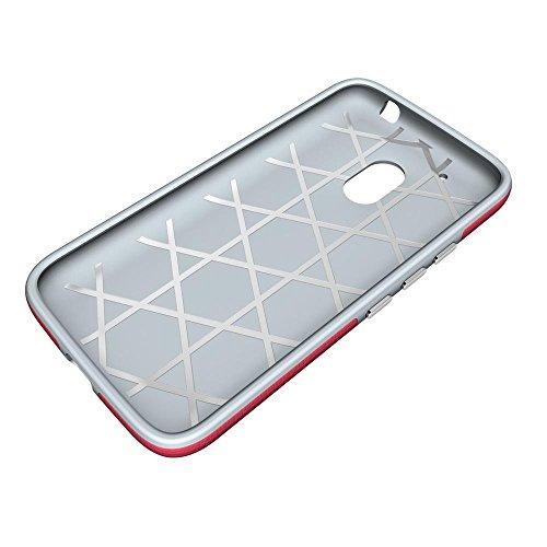 Funda Motorola Moto G4 Play,DETUOSI Moto G4 Play Fundas Delgado Ligero Gel de Silicona Cover Case Carcasa de Protección Hibrida Armadura Funda para Motorola Moto G4 Play 5.0�?Pulgadas Rosa roja