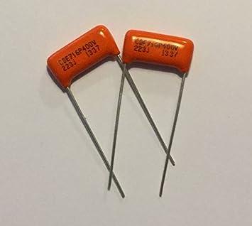 amazon com 2x pair 022uf 400v orange drop film capacitors 2x pair 022uf 400v orange drop film capacitors