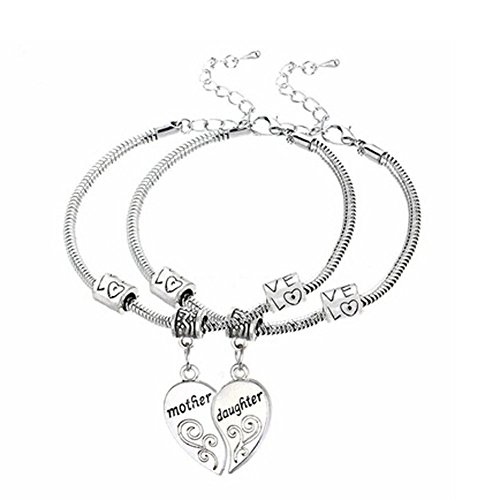 Price comparison product image Beautymei Mother Daughter Bracelet Set Family Jewelry Set (Pack of 2)