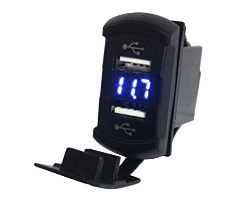bandc-blue-duel-usb-ports-socketvoltmeter-for-arb-carling-switch-standard-size-cutout