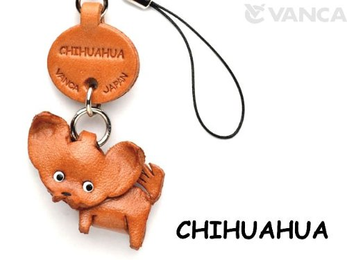 - Chihuahua Leather Dog mobile/Cellphone Charm VANCA CRAFT-Collectible Cute Mascot Made in Japan