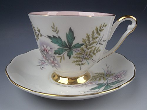 Queen Anne Cup Saucer - Queen Anne China LOUISE-PINK CENTER Cup & Saucer Set(s) EXCELLENT