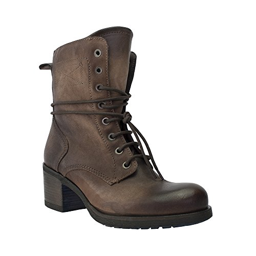 8100 Melrose Brunt Läder Snörning Kort Boot Brown