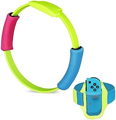 Linkstyle Ring-con y Correa de Pierna Accesorios para niños, Compatible con Nintendo Switch Ring Fit Adventure: Amazon.es: Electrónica
