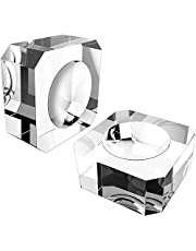 Quesuc 2 Pack Square Crystal Ball Stand, 35 mm Clear Crystal Ball Base for Display 60 mm to 90 mm Crystal Balls, Marbles