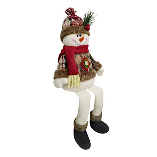 Christmas Doll,AutumnFall Christmas Style Super Soft Plush Santa Claus Snowman Elk Ornament Xmas Party Daily Decoration (B)