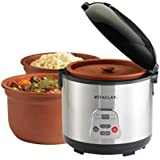 Vitaclay High-Fired 2-In-1 Rice N' Slow Cooker, 8 Cup