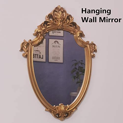 Yash Decorative Wall Mirror, Vintage Hanging Mirrors for Bedroom Living-Room Decor, Antique Gold