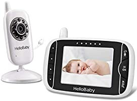 Video Baby Monitor with Camera and Audio | Keep Babies Safe with Night Vision, Talk Back, Room Temperature, Lullabies...