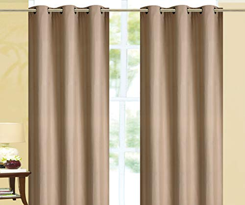Empire Home 100% Solid Blackout Window Curtain Set of Two Sale!! (Tan, 63
