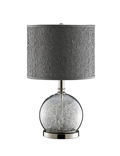 Stein World 947328 Watt Clear Glass Accent Lamp Room With Wire Filled Globe and Polished Chrome ()
