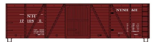 Accurail HO Scale Kit 40' Wood Box Car New Haven/NH