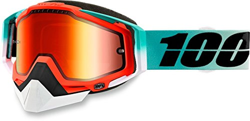 100% Racecraft Cubica Snow Goggles Mint/Mirrored Lens by 100%