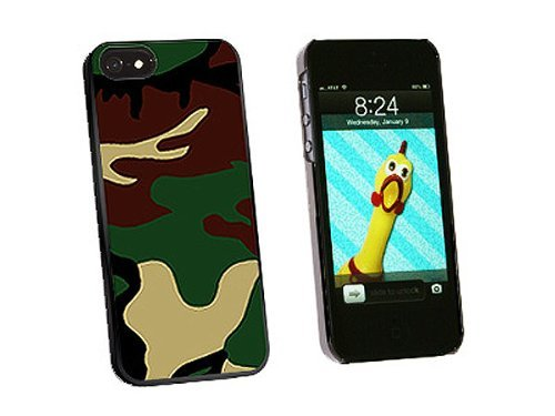 Graphics and More Camouflage Army Soldier Snap-On Hard Protective Case for iPhone 5/5s - Non-Retail Packaging - Black