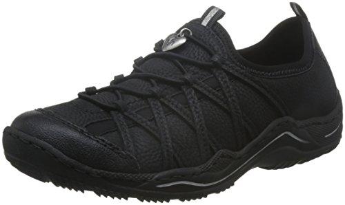 Rieker L0551, Damen Sneakers, Schwarz (schwarz/schwarz/schwarz/00), 39 EU (6 Damen UK)