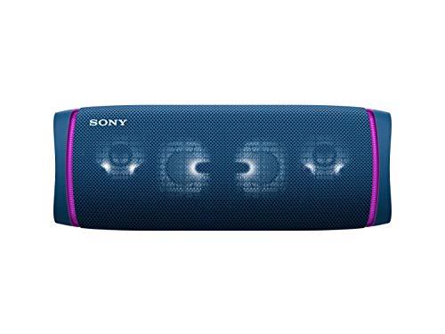 Sony SRS-XB43 draagbare, draadloze bluetooth-luidspreker (meerkleurige lichtbalk, luidsprekerverlichting, waterafstotend…