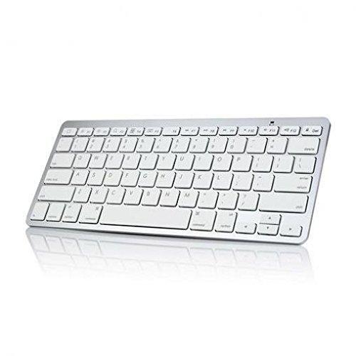 Ultra Slim Aluminum Wireless Keyboard Premium Keypad Portable [Silver] for US Cellular LG G Flex 2 - US Cellular LG G3 - US Cellular LG G4 - US Cellular LG G5 - US Cellular LG Logos ()