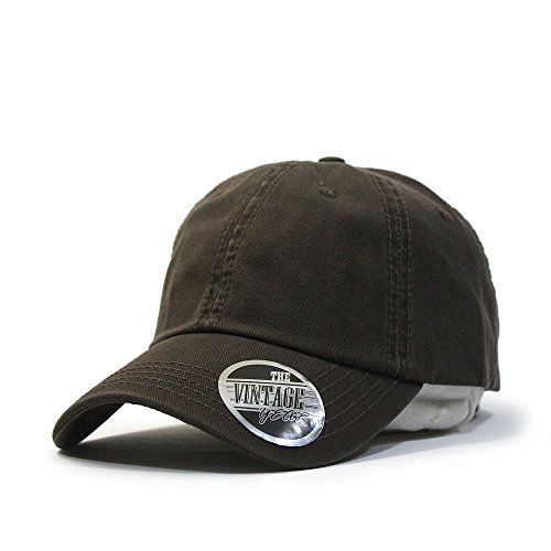 Classic Washed Cotton Twill Low Profile Adjustable Baseball Cap (Dark Brown)](Womens Brown Baseball Caps)