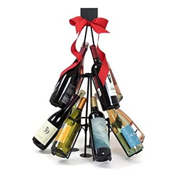 brilliant christmas display wine tree bottle intended rack images