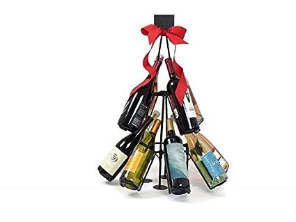 Wine Bottle Christmas Tree Rack.12 Bottle Christmas Tree Holiday Beverage Wine Rack
