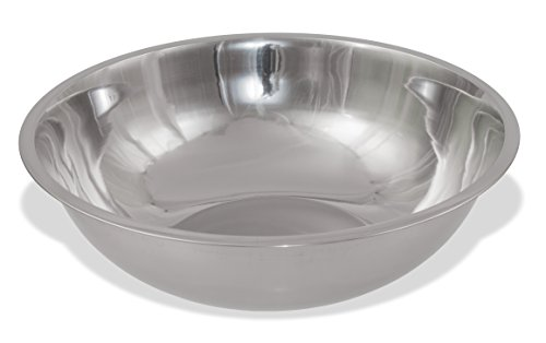 Crestware 20-Quart Stainless Steel Mixing Bowl (Large Aluminum Bowl)