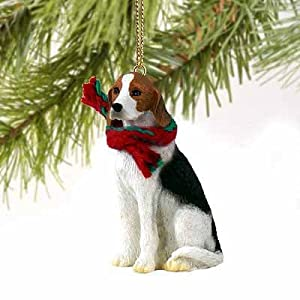 American Foxhound Miniature Dog Ornament 35