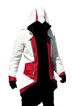 Assassins Creed 3 Connor Kenway rojo y blanco traje de chaqueta ...