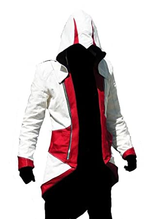Assassins 3 Blanco Rojo Creed Y Connor Kenway De Chaqueta Traje ff7P5Un