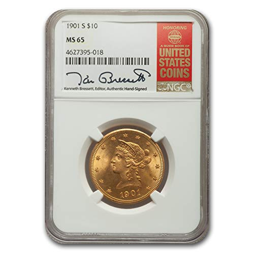 Ms65 Gold Coin - 1901 S $10 Liberty Gold Eagle MS-65 NGC G$10 MS-65 NGC