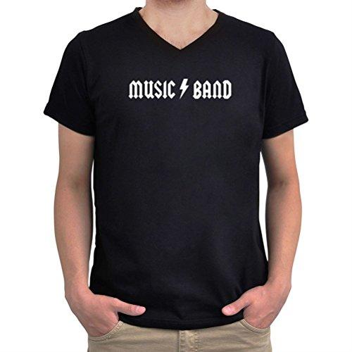 Maglietta scollo a V Music Band