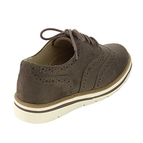 Soda White Bottom Damen Oxford Schuhe Rauchiger Taupe