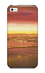 4310528K52119003 New Snap-on Skin Case Cover Compatible With Iphone 5c- Golden Gate Bridge
