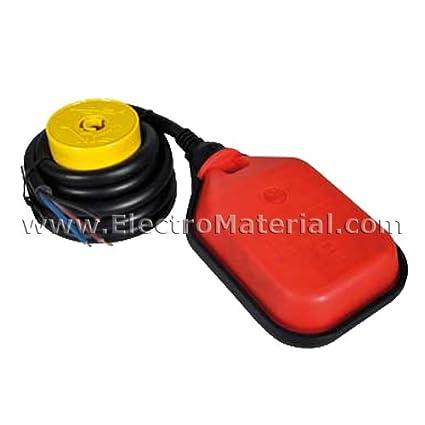 WERDEN - Interruptor de flotador (boya) de aguas limpias con cable y contrapeso IP