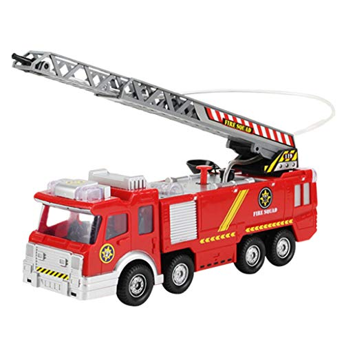 (Shooting Water Lights N Sounds Fire Truck Toy Rescue Vehicle Gift for Kids)