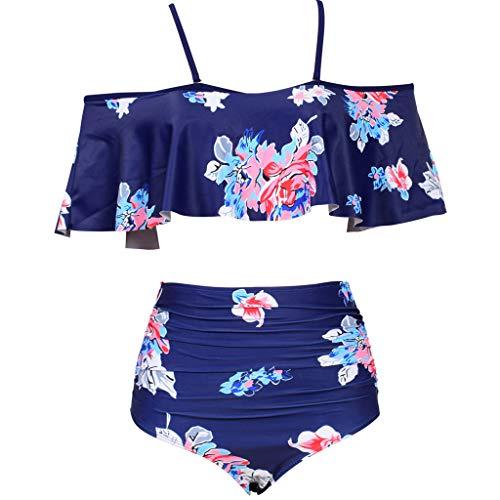 New in Respctful✿Swimsuit Set for Women Padded Halter Bikini Set Floral Print Bathing Suit Swimwear -