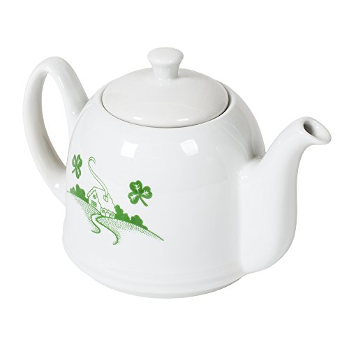 Old Irish Blessing White 20 Ounce Ceramic Teapot
