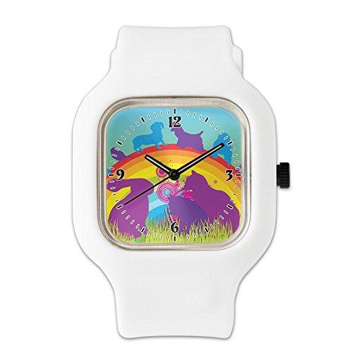 white-fashion-sport-watch-animal-dog-cat-bird-lover-rainbow